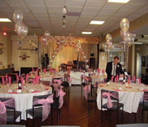 Southport Railway Club function room all decorated